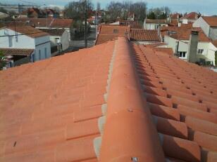 Faitage toiture refait à sec