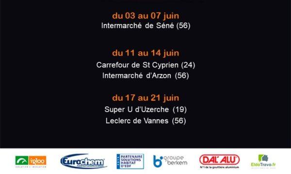 Présence de Maisonsur sur les galeries marchandes du 03 au 21 juin à Séné (56), St Cyprien (24), Arzon (56), Uzerche (19) et Vannes (56)