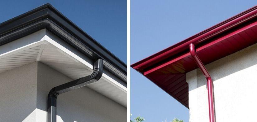 Gouttières aluminium toiture
