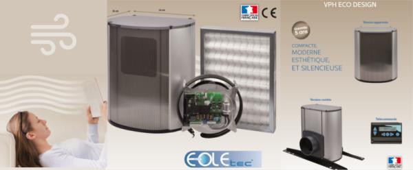 ventilation positive hygroréglable