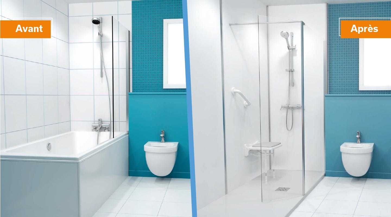 Remplacer votre baignoire par une douche adaptée