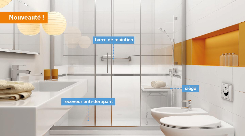Une douche PMR adaptée aux seniors