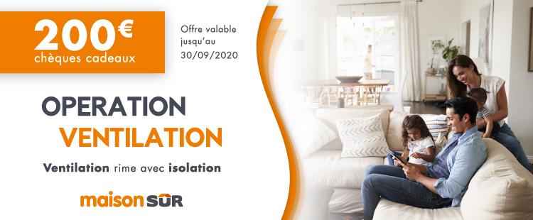 offre commerciale MaisonSûr sur la ventilation