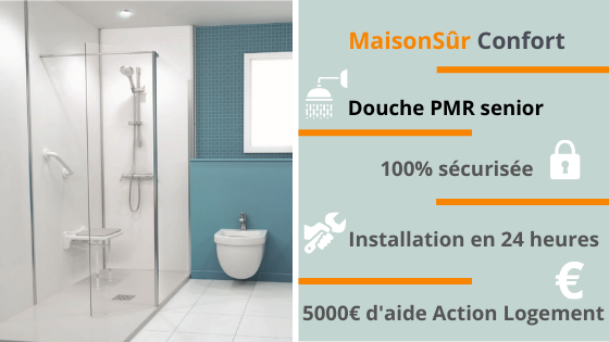 Installer une douche PMR senior