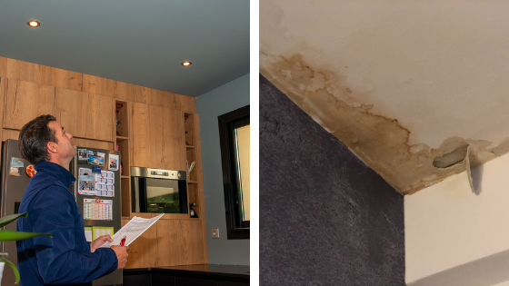 Assurance et infiltration d'eau du toit