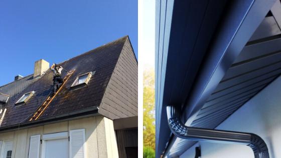 nettoyage de toiture et remplacement de gouttières
