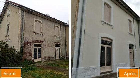 Ravalement de façade avant après