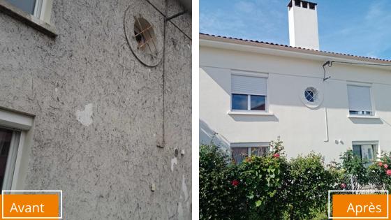 ravalement de façade maison avant apres