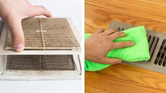 Nettoyage des aerations et des bouches d'extraction